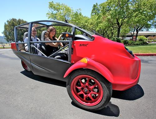 test car wheel electric drive three rachel ev prototype motorcycle vehicle xander pulse srk 3wheeler ev20 arcimoto