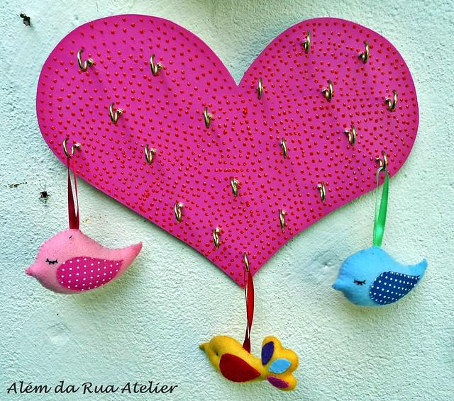 porta bijoux de coração