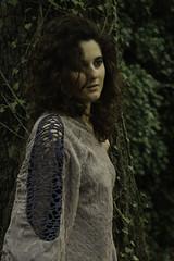 Ethereal Hug (Antonio Ferraroni) Tags: old trees shadow summer green girl leaves fashion forest canon 50mm spring hug photoshoot dresses ethereal 18 1785mm elegance lightt 50d