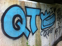 QT pie (BombTillDawn) Tags: pie graffiti e brake qt wareham btd