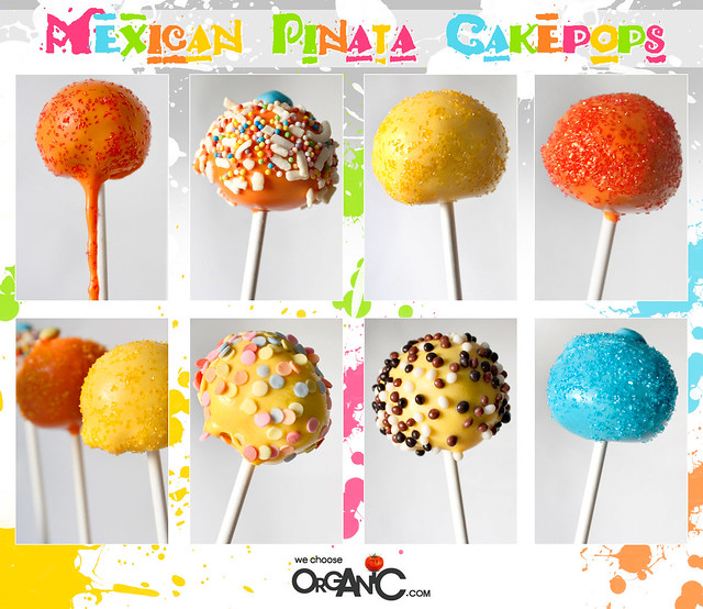 cake pops - mexican pinata theme, birthday