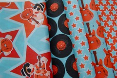 Project Selvage (whole collection) (nancykers) Tags: blue red baby guitar blues spoonflower projectselvage