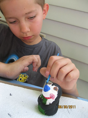 06/30/2011: Jonathon paints his seal.