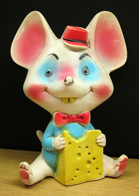 Vintage Mouse Squeaky Toy