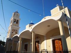 Church, Fira, Santorini (Le monde aux yeux d'une Canadienne) Tags: summer church june bells island greek europe mediterranean santorini greece orthodox cyclades thira fira 2011   southaegeansea
