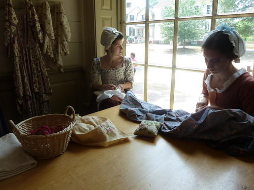 Colonial Williamsburg milliner's shop