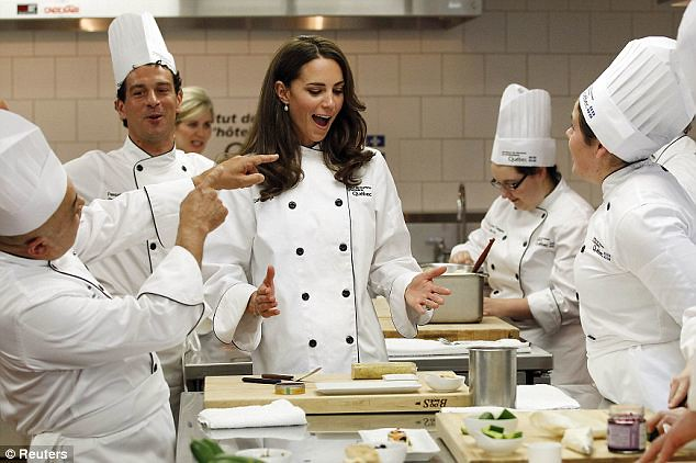 she can cook! Kate serves up a treat as she reveals her talent in the kitchen..  William  1