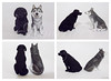 Labrador & Husky (Rouvelee's Creations) Tags: dog husky labrador polymerclay caketopper rouvelee
