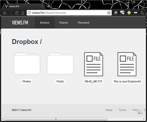Using Views.fm and Dropbox