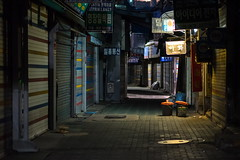 Silence (TigerPal) Tags: seoul korea southkorea city oldandnew korean daelimarcade jongno alley night availablelight