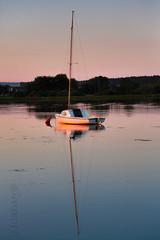 on the water (Kittroid) Tags: 2016jjordan zalew zalewkranicki lake sunset boat mast reflection symmetry ripple kranik lubelskie poland europe summer summer2016 coot