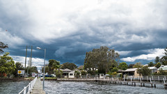 Stormy day on the coast (Merrillie) Tags: woywoy houses storm nature water outdoor nswcentralcoast weather newsouthwales clouds nsw wharf centralcoastnsw woywoybay stormy photography bay outdoors waterscape stormscape centralcoast sky australia
