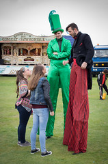 stilted conversation 01 sep 16 (Shaun the grime lover) Tags: widnes victoria park cheshire lancashire vintage rally circus stilts stilted costume