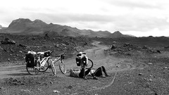 Cycling in Iceland 2015 (Franzz11) Tags: landscape mountains volcano cycling berge rower biketour landmannalaugar fahrradtour bicycle tour wulkan mylife travel iceland island islandia fahrrad vulkan hekla