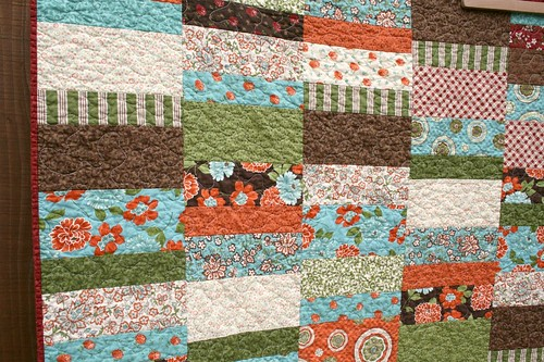 Optimism Throw Quilt ~ front