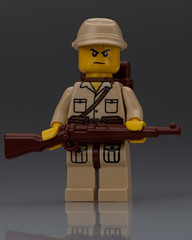 WW2 Japanese Soldier (~Ghost Soldier~) Tags: lego ghost bap prototype ww2 ba brickarms kar98k soldier2010