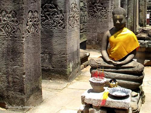 Buddha Statue in Angkor Temple, Cambodia