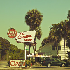 The Orange Shop (Edit 2) (skippys1229) Tags: orange sign shop canon rebel store landmark palmtrees neonsign oldsign 301 marioncounty tradingpost citra freshjuice polarizingfilter highway301 2011 orangeshop theorangeshop orangegroves hwy301 55250mm ushighway301 march2011 citraflorida rebelt1i t1i canonrebelt1i 301north northernmarioncounty signwitharrows mid20thcenturystylesign