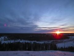 Early morning light (BigWhitePelican) Tags: trees sun clouds sunrise finland landscape march helsinki vuosaari 2011 fujifilmfinepixhs10