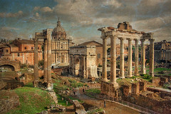 Rome (h_roach) Tags: italy rome ruins forum italians gettyimage abigfave textureart a3b photoshopcreativo