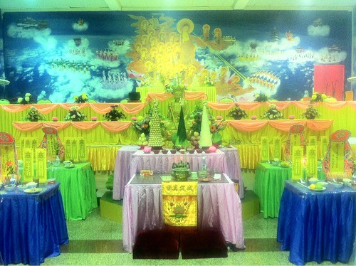 Prayer hall decorated for the Qingming ceremony 3