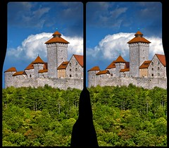 Veste Wachsenburg HDR 3D - Cross View Stereoscopy (Stereotron) Tags: 3d 3dphoto 3dstereo 3rddimension spatial stereo stereo3d stereophoto stereophotography stereoscopic stereoscopy stereotron threedimensional stereoview stereophotomaker stereophotograph 3dpicture 3dglasses 3dimage crosseye crosseyed crossview xview cross eye squint squinting freeview quietearth europe germany arnstadt veste wachsenburg dreigleichen 3gleichen wachsenburggemeinde holzhausen thuringia thüringen castle fortress fort stronghold medieval forest woods trees clouds twin canon eos 550d yongnuo radio transmitter remote control tonemapping hdr hdri raw cr2 hyperstereo 3dframe airtightframe fancyframe floatingwindow airtight frame spatialframe stereowindow window sidebyside 100v10f