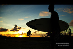 0403 IMG_3305 (JRmanNn) Tags: sunset silhouette surfer paseo fred bodyboard