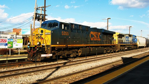 A westbound CSX Transportation Company freight train. Elmwood Park Illinois USA. Saturday, April 2nd, 2011. by Eddie from Chicago