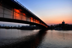 dusk under the bridge (my lala) Tags: bridge red dusk most belgrade beograd sava belgrad brankovmost