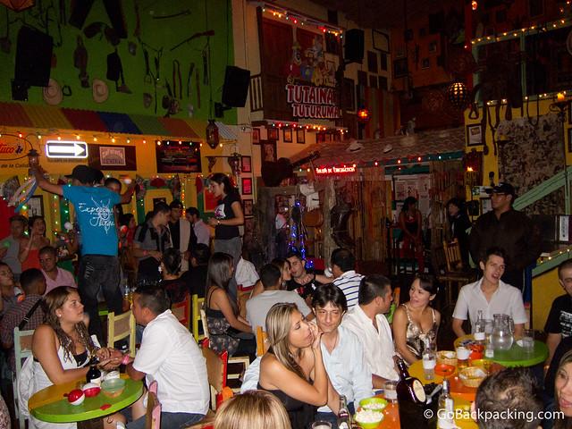 The late night crowd at Tutaima Tuturuma