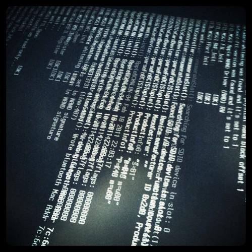 computer screen displayng code