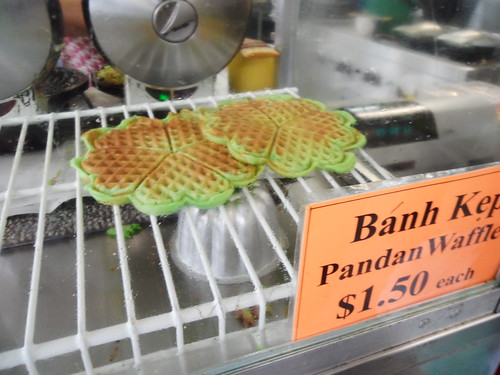Banh Kep Coconut and Pandan Waffles