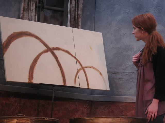 What is Sam's painting, 'Delilah's Secret,' doing in Allesandra's home?