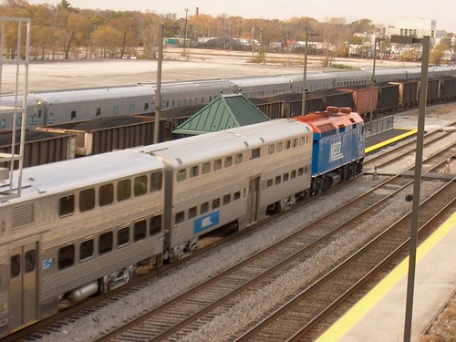 Eastbound Metra local at the Hanson Park commuter flagstop depot. Chicago Illinois USA. November 2006. by Eddie from Chicago