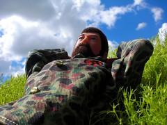 (8 Skeins of Danger) Tags: blue sky sun white green nature sunshine clouds relax fun gijoe outside happy spring think dream daydream chill pondering adventureteam landadventurer 8skeinsofdanger