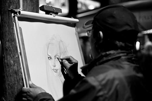 55/365 - Portraitiste à Montmartre