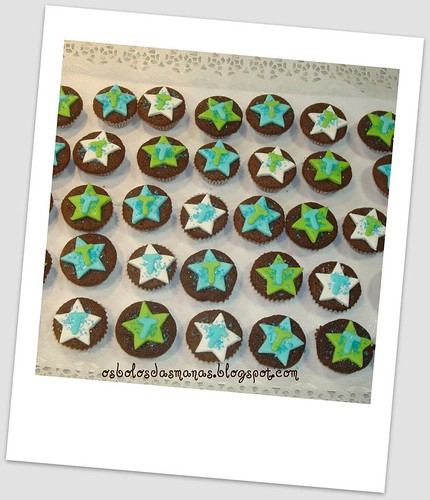 Mini Cupcakes Bolo nº 1 Tomás by Osbolosdasmanas