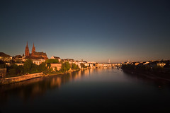 Basel & morning (dongga BS) Tags: schweiz switzerland basel rhine mnster morgens rheinufer langzeit grossbasel rheiin graufilter canoneos50d 1116mm tokinaatx116prodx1116mmf28 skylinebasel grossbasleraltstadt rheinuferbasel