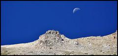 Mid-day moon (nightsky76) Tags: moon mountains nature set landscape outdoors utah scenery alpine wilderness rugged highuintas westforkblacksfork