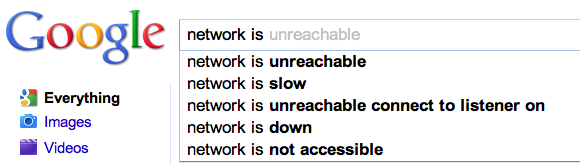 Google network is