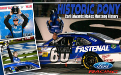 Historic Pony - Carl Edwards Makes HIstory (Ford Racing - Inside the Oval) Tags: nascar mustang carledwards fordracing
