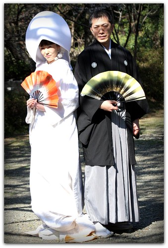 A Traditional Japanese Wedding Couple