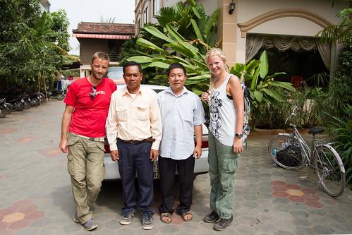 Ke Nit and our driver at Angkor