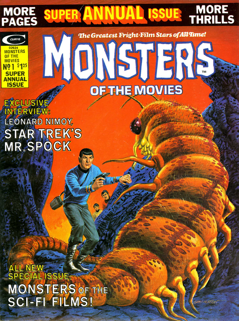 Monsters of the Movies Annual #1 (Marvel, 1975) Cover Art by Gray Morrow