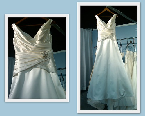Lea-Ann Belter Bridal portrait neckline Lola - Fall 2011, Spring 2012 - New York Couture Bridal Market