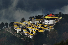 Tawang Monastery (Anoop Negi) Tags: china portrait india yellow photography for photo media image photos delhi indian bangalore creative free images best tibet monastery po mountainside mumbai anoop claims pradesh negi arunachal tawang territorial disputes photosof ezee123 bestphotographer imagesof anoopnegi jjournalism