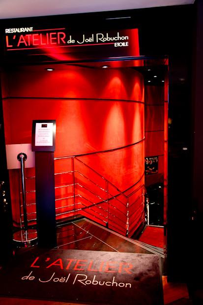 Entrance to L'Atelier de Joel Robuchon Etoile