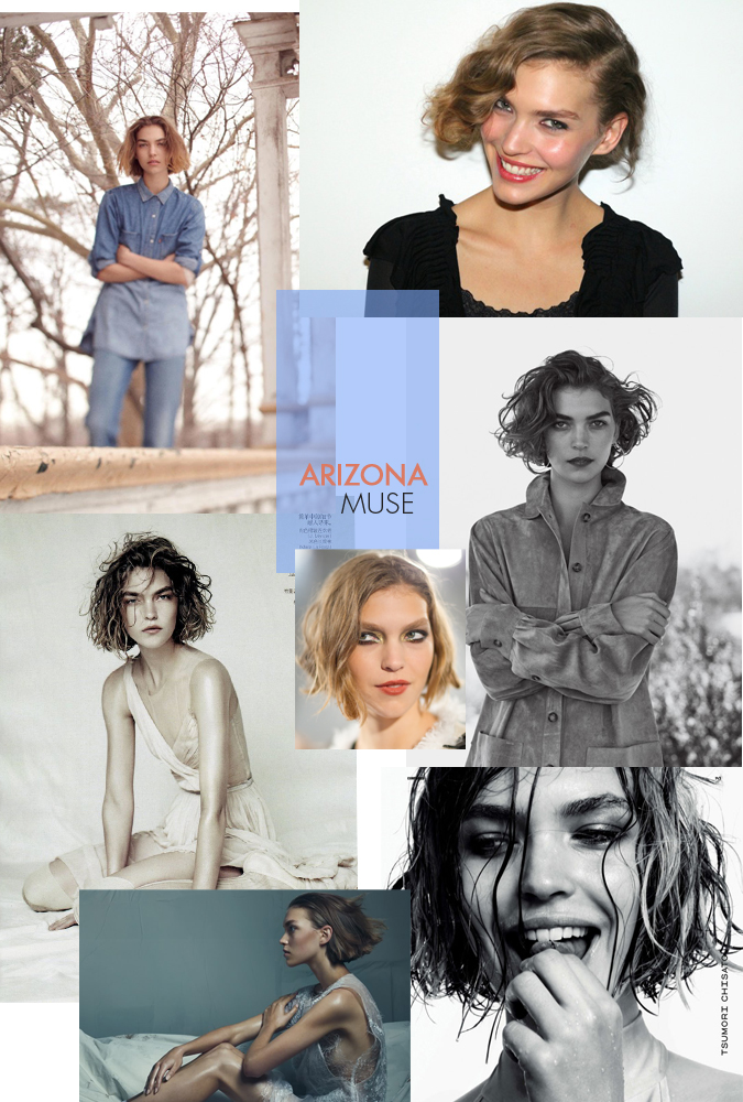 Arizona Muse:Hair INspirationals