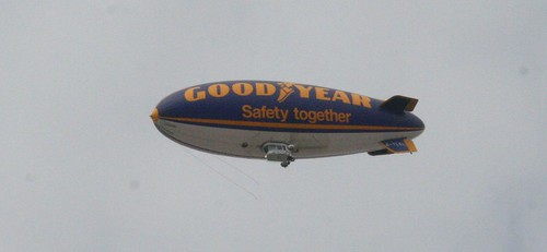 The Goodyear Blimp right by my flat