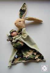 bunny-mini-combo-2 (Polar Bear Creations Dolls) Tags: bunny doll waldorf blankie blanky softtoy babytoy firstdoll steinerdoll waldorfinspired